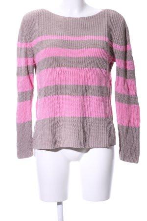 Betty Barclay Rundhalspullover bronzefarben-pink Streifenmuster Casual-Look