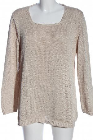 Betty Barclay Rundhalspullover creme Casual-Look