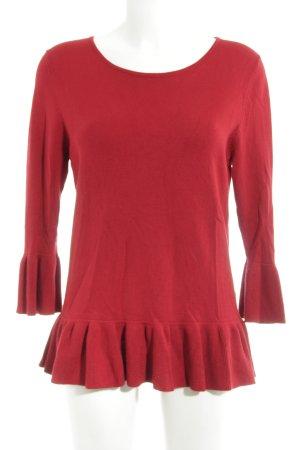 Betty Barclay Rundhalspullover rot schlichter Stil