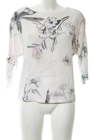 Betty Barclay Schlupf-Bluse weiß-hellgrau Blumenmuster Elegant