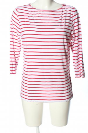 Betty Barclay Longsleeve weiß-rot Streifenmuster Casual-Look