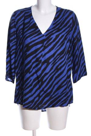 Betty Barclay Schlupf-Bluse blau-schwarz Allover-Druck Elegant