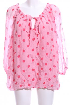 Betty Barclay Schlupf-Bluse pink Punktemuster Casual-Look