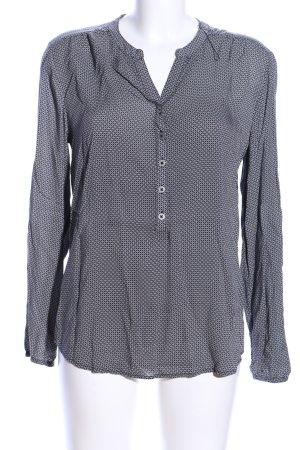 Betty Barclay Schlupf-Bluse schwarz-weiß Allover-Druck Business-Look