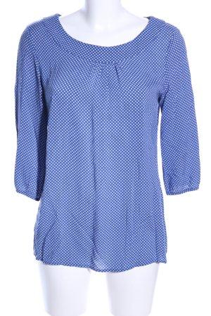 Betty Barclay Schlupf-Bluse blau-weiß Allover-Druck Casual-Look
