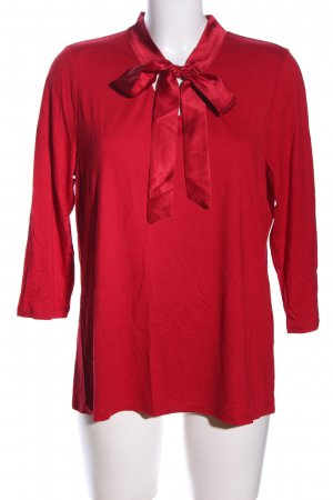 Betty Barclay Blusa collo a cravatta rosso stile casual
