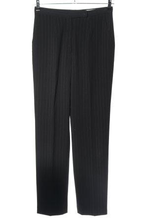 Betty Barclay Pantalone jersey nero motivo a righe stile professionale