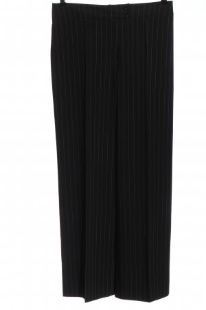 Betty Barclay Pantalone jersey nero-bianco motivo a righe stile professionale