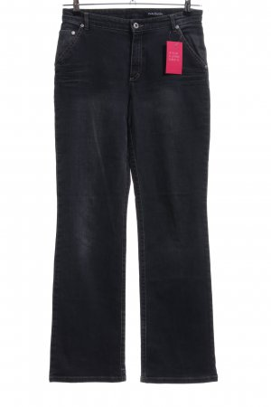 Betty Barclay Jeansy z prostymi nogawkami czarny W stylu biznesowym