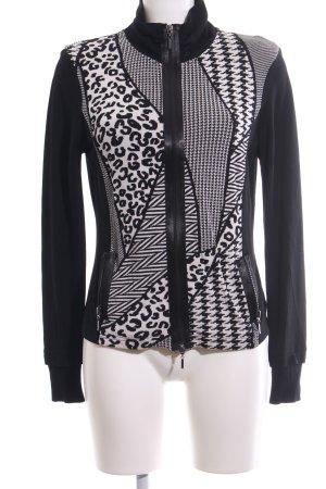 Betty Barclay Strickjacke schwarz-weiß grafisches Muster Casual-Look