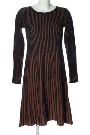 Betty Barclay Strickkleid schwarz-braun Streifenmuster Elegant
