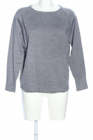 Betty Barclay Strickpullover hellgrau meliert Casual-Look