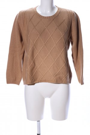Betty Barclay Strickpullover braun Karomuster Casual-Look