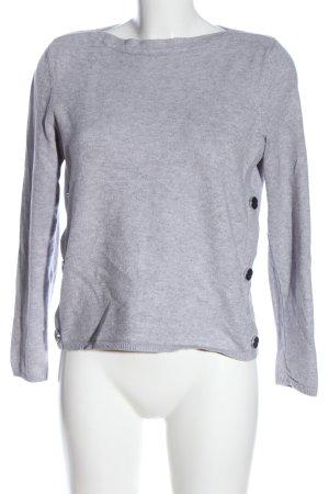 Betty Barclay Maglione lavorato a maglia grigio chiaro puntinato stile casual