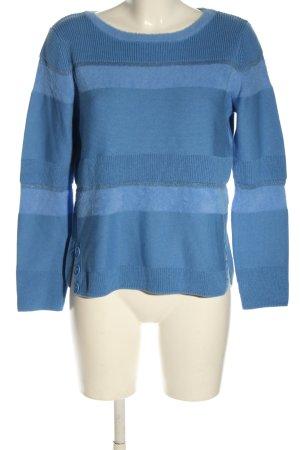 Betty Barclay Strickpullover blau Streifenmuster Casual-Look