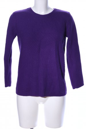 Betty Barclay Strickpullover lila Streifenmuster Casual-Look