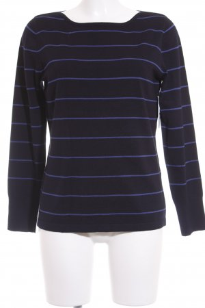 Betty Barclay Strickpullover dunkelblau-blau Streifenmuster Casual-Look