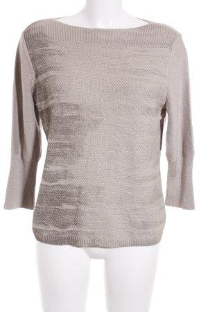 Betty Barclay Strickpullover hellbraun-graubraun abstraktes Muster Elegant