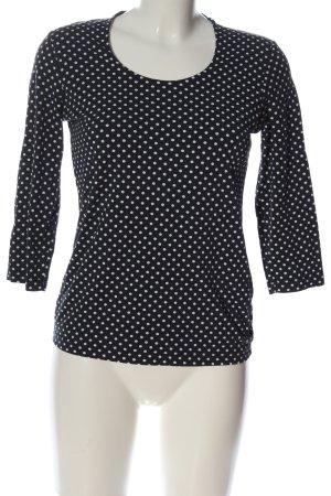 Betty Barclay Strickshirt schwarz-weiß Punktemuster Casual-Look