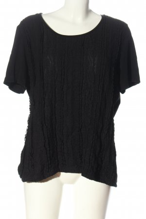 Betty Barclay T-shirts en mailles tricotées noir motif abstrait élégant