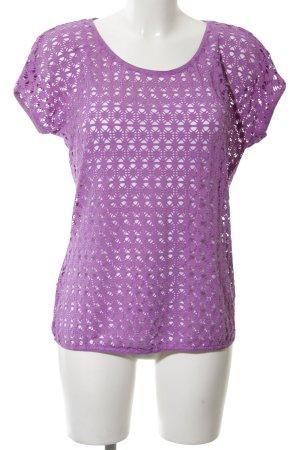 Betty Barclay Strickshirt lila Casual-Look