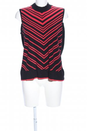 Betty Barclay Knitted Top black-red graphic pattern casual look