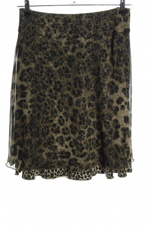 Betty Barclay Broomstick Skirt khaki-black animal pattern casual look