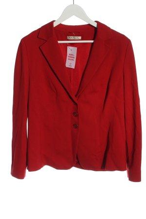 Betty Barclay Sweatblazer rood casual uitstraling