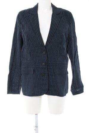 Betty Barclay Sweatblazer blau-weiß Streifenmuster Business-Look
