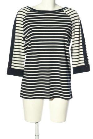 Betty Barclay Sweatshirt schwarz-weiß Streifenmuster Casual-Look