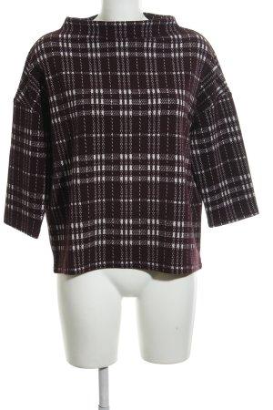 Betty Barclay Sweatshirt dunkelbraun-weiß Karomuster Casual-Look