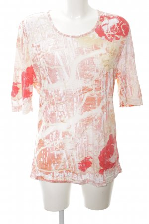 Betty Barclay T-Shirt rot-wollweiß abstraktes Muster Casual-Look