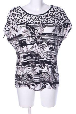 Betty Barclay T-Shirt schwarz-weiß Allover-Druck Casual-Look