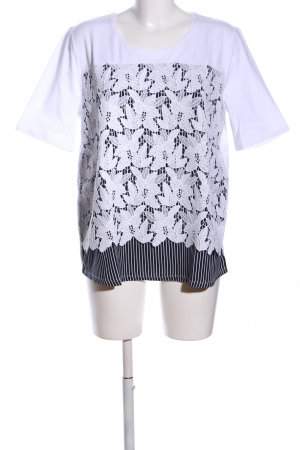 Betty Barclay T-Shirt weiß-schwarz Streifenmuster Casual-Look