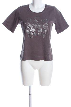 Betty Barclay T-Shirt lila-hellgrau Motivdruck Casual-Look