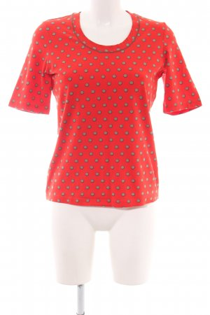 Betty Barclay T-Shirt rot-hellgrau Punktemuster Casual-Look