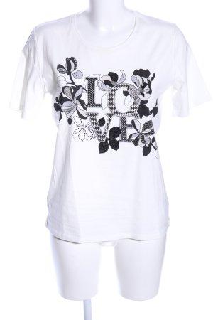 Betty Barclay T-Shirt weiß-schwarz Motivdruck Casual-Look