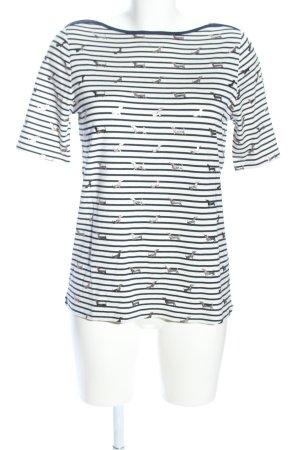 Betty Barclay T-Shirt blau-weiß Allover-Druck Casual-Look