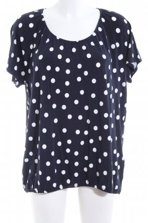 Betty Barclay T-Shirt dunkelblau-weiß Punktemuster Casual-Look
