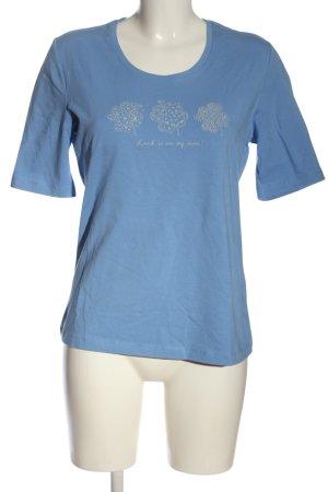 Betty Barclay T-Shirt blau Motivdruck Casual-Look