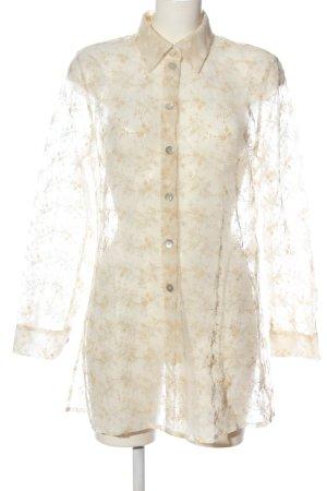 Betty Barclay Blusa trasparente crema stile casual