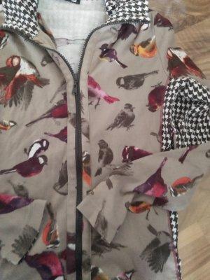 Betty Barclay Traum Langarm Oberteil mit Reissverschluss Süsse bunte Vögel 36
