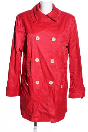 Betty Barclay Trenchcoat rood-wolwit casual uitstraling