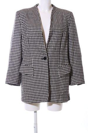 Betty Barclay Blazer Tweed negro-blanco estampado gráfico estilo «business»