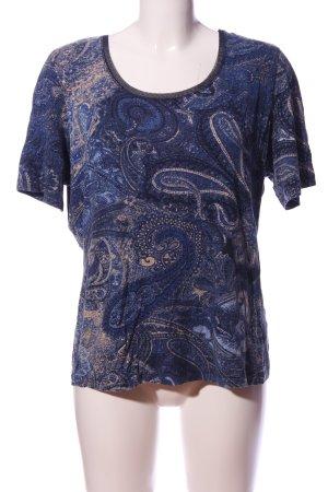 Betty Barclay U-Boot-Shirt blau-nude Allover-Druck Casual-Look