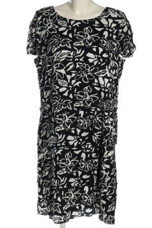 Betty Barclay Flounce Dress black-white flower pattern casual look