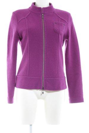 Betty Barclay Veste en laine violet style décontracté