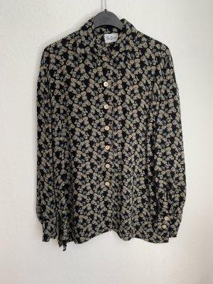 Betty Barclay Blouse met lange mouwen zwart-khaki