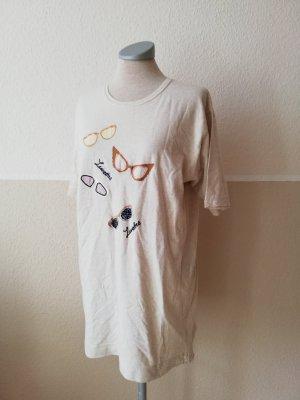 Betty Barcley kurzarm Shirt Vintage + Sonnenbrillen Strickerei Gr. S 36 38