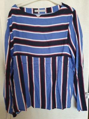 Betty Barkley Schlupf Bluse 3/4 arm blau gestreift Gr 38